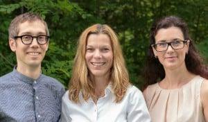 Pär Matsson, Christel Bergström og Maria Karlgren.